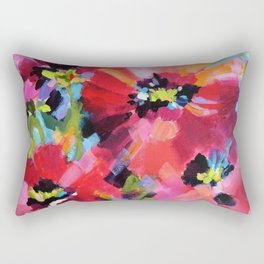 Wildflowers and Poppies Rectangular Pillow
