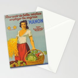 vintage pour avoir de belles recoltes Stationery Cards