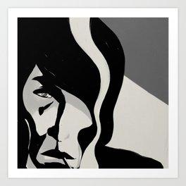 Smoking Man Art Print