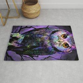 Beautiful Owl at Night Rug