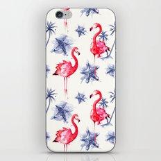 Beach Flamingos iPhone & iPod Skin