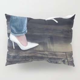 White Pumps. Pillow Sham