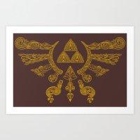 Hylian Henna Shield Art Print