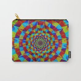 ZOOM #1 Vibrant Psychedelic Optical Illusion Carry-All Pouch