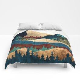 Malachite Mountains Comforters