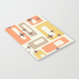 Mid Century Modern Geometric Abstract 133 Notebook