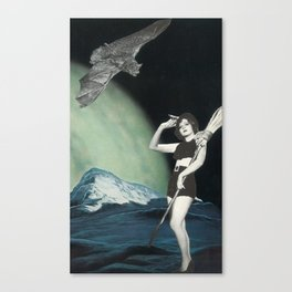 Pin-Up Witchery Canvas Print