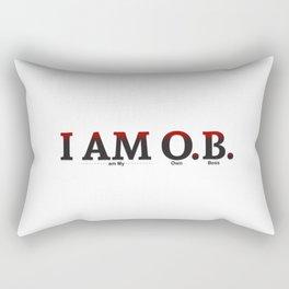 I AM O.B. Rectangular Pillow