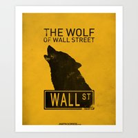 wolf of wall street Art Prints featuring The Wolf of Wall Street by CCL Works