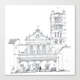 Basilica di Santa Cecilia in Trastevere Canvas Print