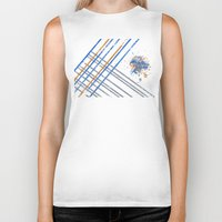 grid Biker Tanks featuring Grid by Last Call