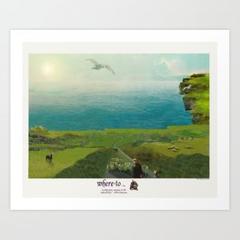 Where to... [Cliffs of Moher, Ireland] Art Print