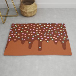 Dripping Melted chocolate Glaze with sprinkles Rug