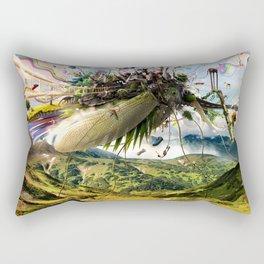 Fleeing Creativity (surreal) Rectangular Pillow