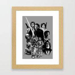 REBELS AGAINST THE EMPIRE Framed Art Print