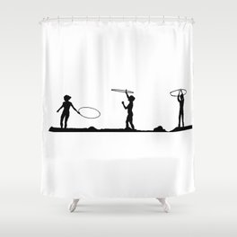 Hula Hoop Fun!! Shower Curtain