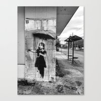 banksy Canvas Prints featuring Banksy by Andrew Weaver | drewmaniac