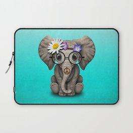 Cute Baby Elephant Hippie Laptop Sleeve