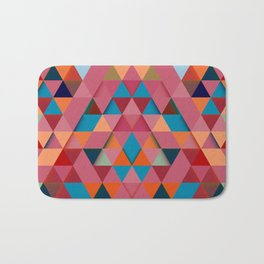 Colorfull abstract darker triangle pattern Bath Mat