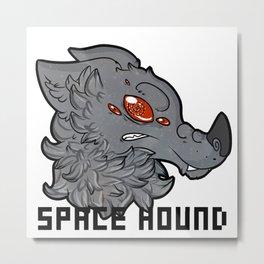 Space Hound Metal Print