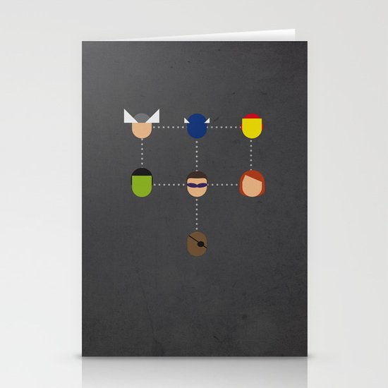 The advengers Capsules Stationery Cards