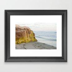Mossy Rock Framed Art Print