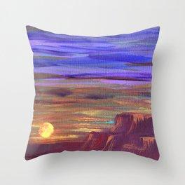 Magical Southwest Night Sky Throw Pillow