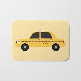 New York City, NYC Yellow Taxi Cab Bath Mat