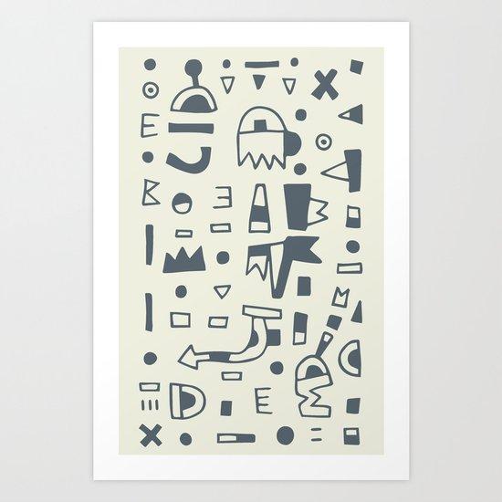 Pattern v10 Art Print