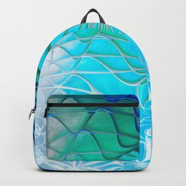 Web of the Universe (cool sea blue-green) Backpack