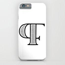 PF monogram iPhone Case