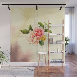 Golden Abstraction Wall Mural