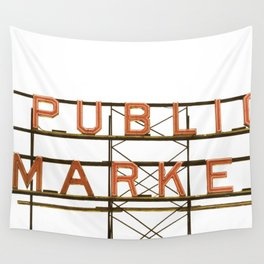 Pike Place Public Farmers Market - Sunrise Wall Tapestry
