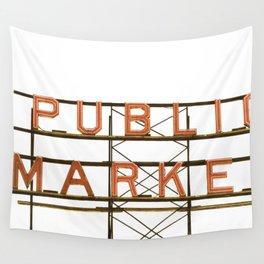 Pike Place Public Farmers Market - Sunrise Wall Tapestry