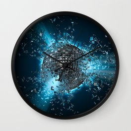Disco planet explosion Wall Clock