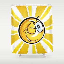 Blinking Smiley Shower Curtain