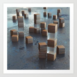 20160227 | NOTHING BUT CUBES Art Print