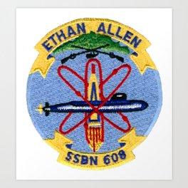 USS ETHAN ALLEN (SSBN-608) PATCH Art Print