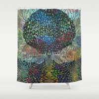 biology Shower Curtains featuring Tree of Life 2 - The Sacred Tree  by Klara Acel