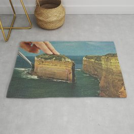Serving up cake by the seaside II - Cake slice Rug