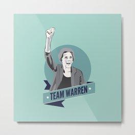 Elizabeth Warren #TeamWarren Metal Print