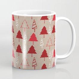 Christmas Tree Red and Brown Coffee Mug