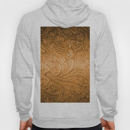 Golden Tan Tooled Leather Hoody