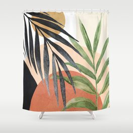 Abstract Tropical Art VI Shower Curtain