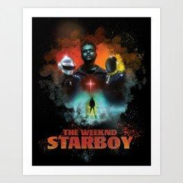 The Weeknd Starboy Art Print