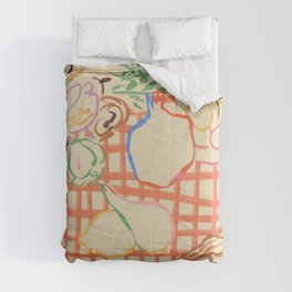 SUMMER FRUIT STILL LIFE Comforters