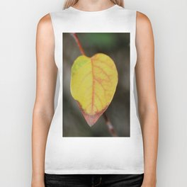 Red and Yelow Leaf Biker Tank