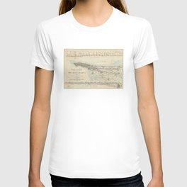 Vintage Map of NYC & The Croton Aqueduct (1899) T-shirt