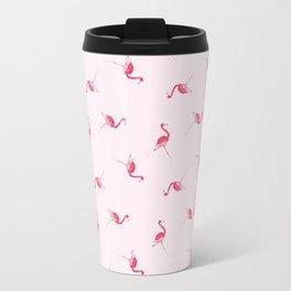 Hi Ho Flamingo Watercolor Painting Travel Mug