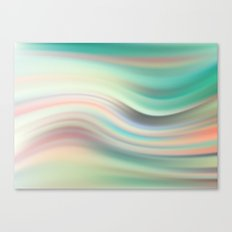 Green mist. Blurred background Canvas Print
